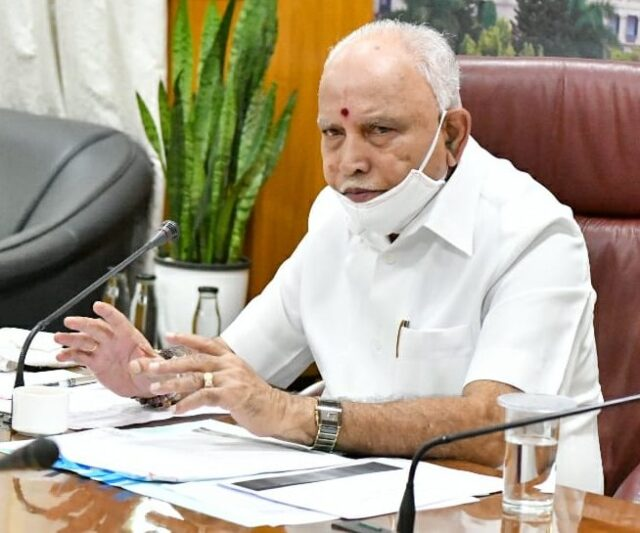 Chief Minister BS Yediyurappa