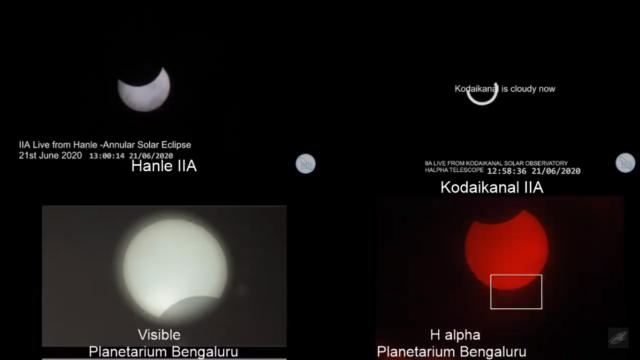 Solar eclipse partially visible in Bengaluru