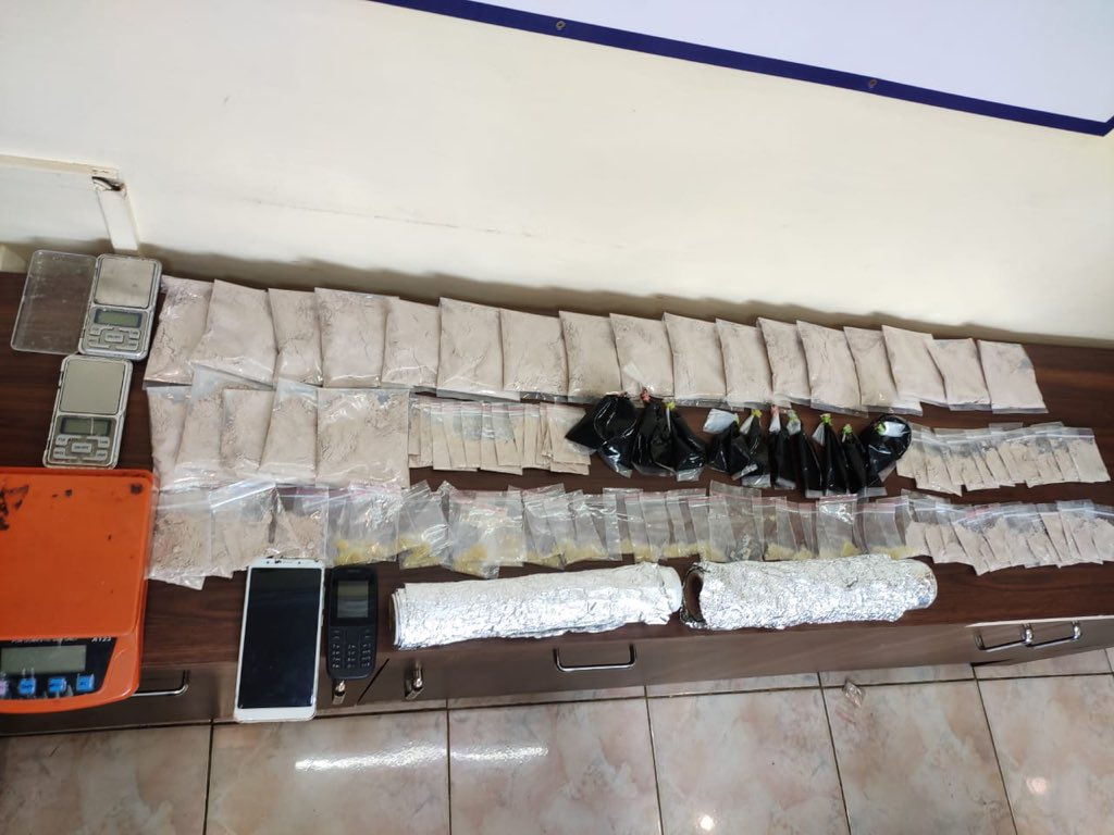 Cops seize drugs worth Rs 3.3 crore near K R Market metro station Duo had brought narcotics hidden in pipes from Rajasthan