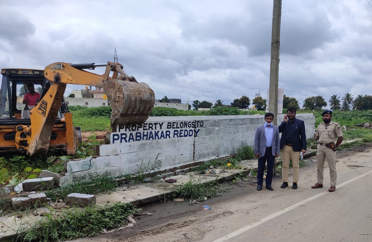 Officials recover encroached government land worth Rs 100 crore