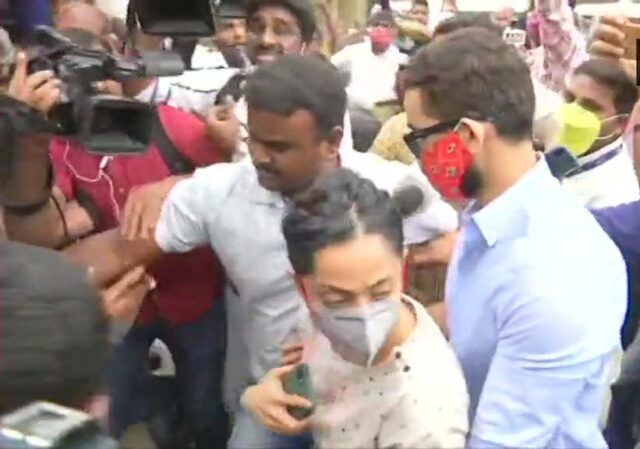 Aindrita, Diganth visit CCB office with their lawyer They were in Kerala, rushed back on Tuesday night