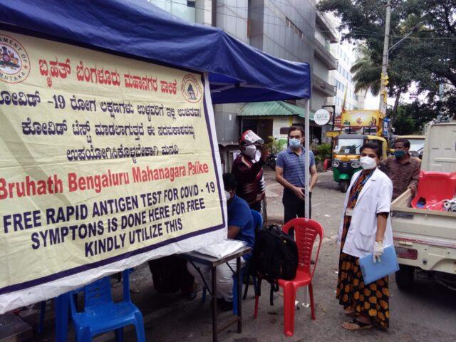 IAS Munish Moudgil at rapid testing center