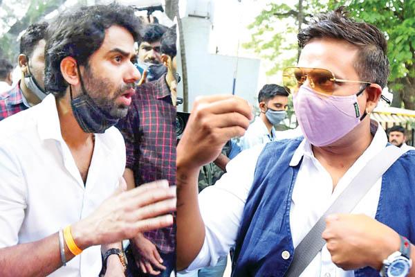 Actor Santhosh and Akul Balaji
