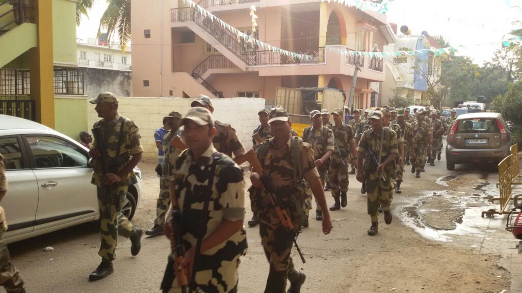 Paramilitary force to be deployed for R R Nagara bypolls