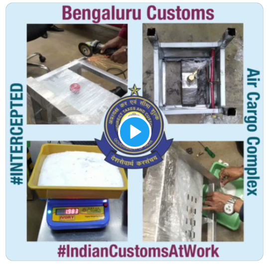 Customs seize drugs worth Rs 79 lakhs concealed in a Gas stove