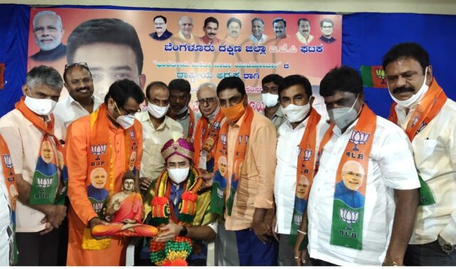 MP Tejasvi Surya felicitated on appointment as BJP youth wing president