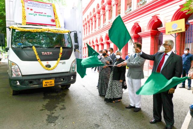 CJ flags off 'Covid Awareness' rally DIPR vehicle sports 'Covid Alert' LED messages