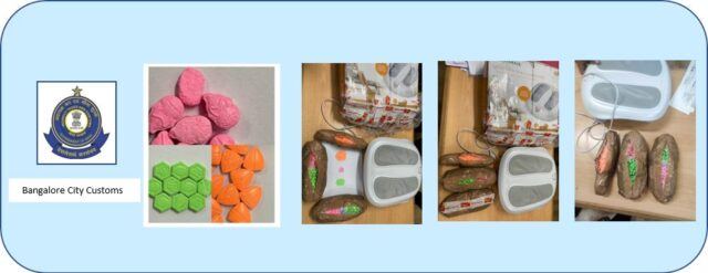 Customs seize 2 kg of MDMA worth about Rs 1.20 cr stuffed in 'Foot Massage Machine'