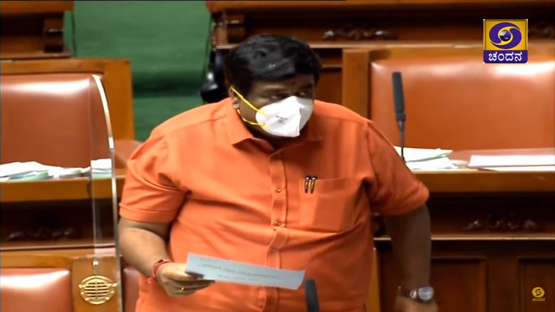 CV Raman Nagar MLA S Raghu, tabled his report in the legislative assembly on Wednesday