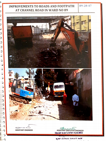 Job code 089-20-000047 -- Improvements to Roads and Footpath at Channel Road in Ward No.89 (Work before execution)