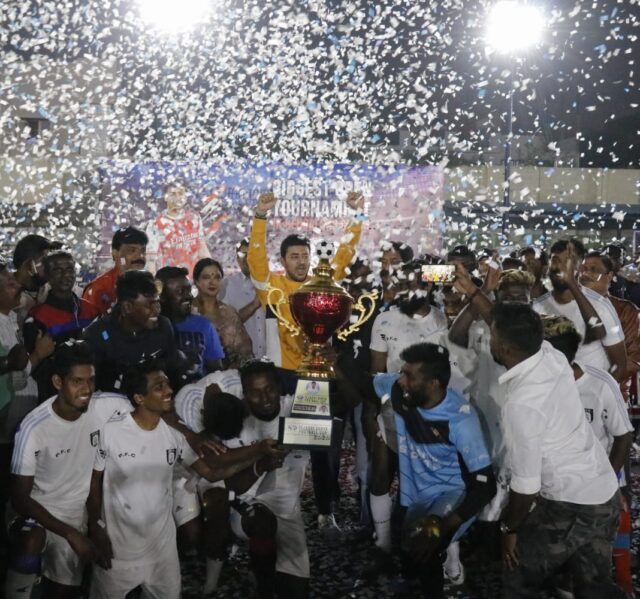 Prabha 7s crowned champs of Tejasvi Surya Football Cup With 250 teams and 150 volunteers, event is Bengaluru South's biggest sporting fiesta