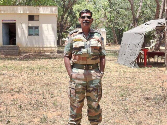 IAS Manivannan from captain to Major
