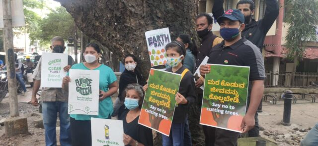 Bengalureans protest against axing of trees for Koramangala elevated corridor